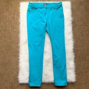 Vince Canute   Turquoise Skinny Pants